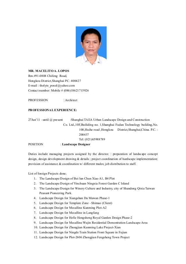 resume 2015 updated
