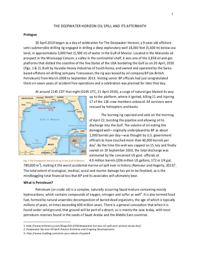 essay on bp oil spill