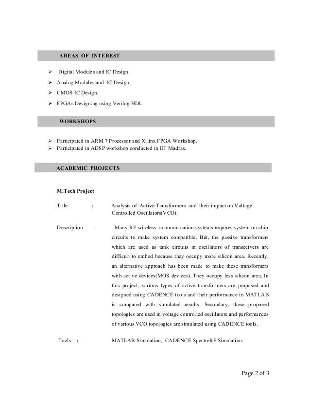 Vikas Resume CGPA New Font2