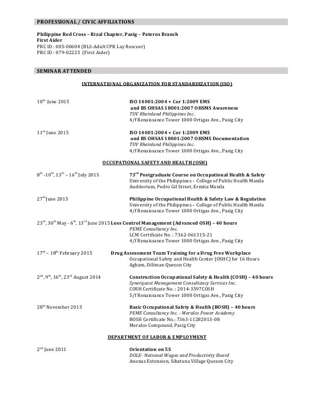 resume objective resume format and sample resume tax preparer resume - Sample Red Cross Resume