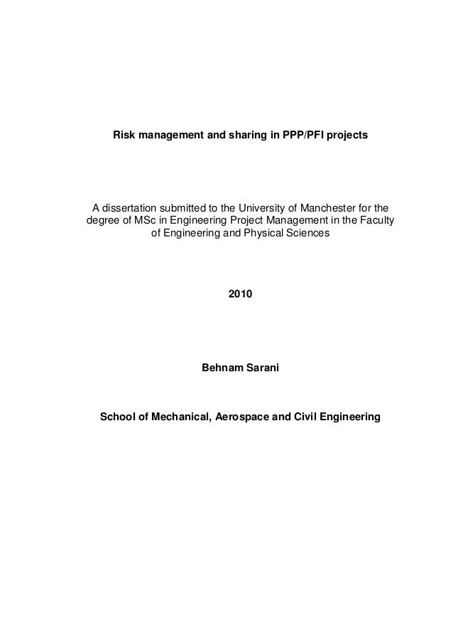 Phd thesis in risk management