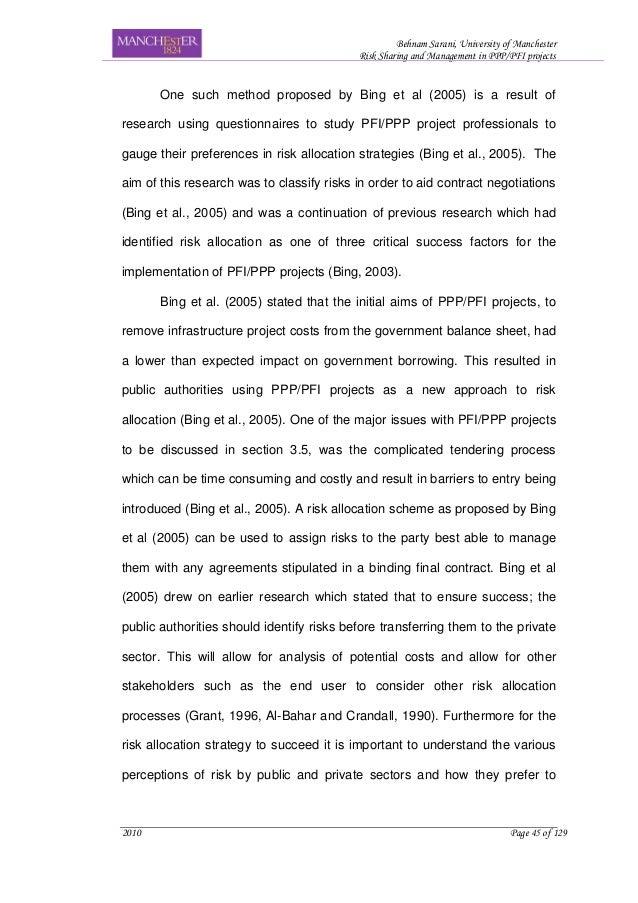 Dissertation proposal on risk management