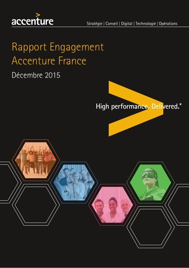 Rapport Engagement Accenture France Décembre 2015
