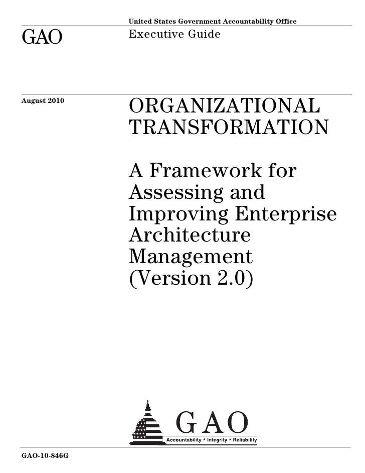 A Framework for Assessing and Improving Enterprise Architecture Management (Version 2.0)