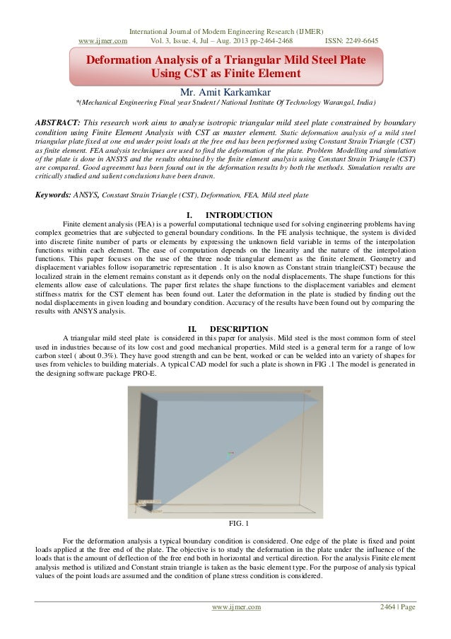 International Journal of Modern Engineering Research (IJMER) www.ijmer.com Vol. 3, Issue. 4, Jul – Aug. 2013 pp-2464-2468 ...