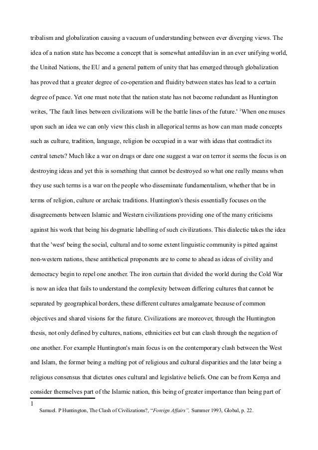 Edward said clashing civilizations essay