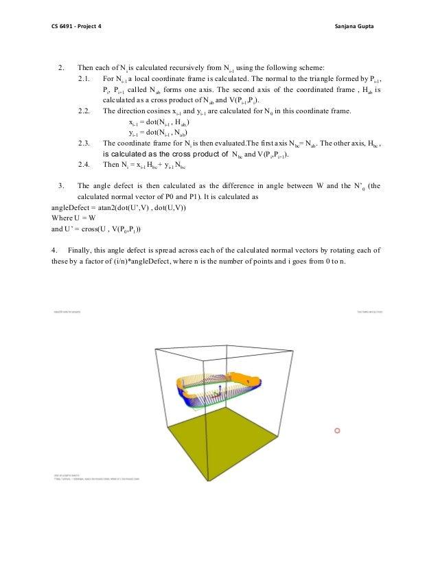 Parallel normal vectors