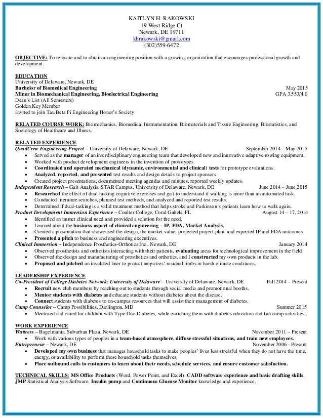 biomedical engineering phd resume resume biomedical