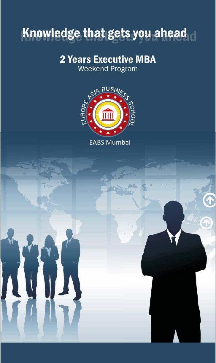 Executive MBA Brochure - Europe Asia Business School Mumbai