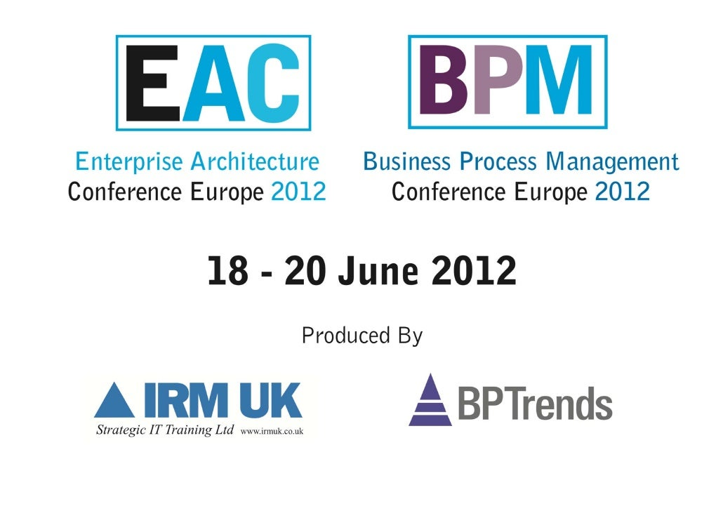 Designing Pervasive Enterprise Information Architectures (with Andrea Resmini and Luca Rosati) - Enterprise Architecture and Business Process Management Conference London 2012