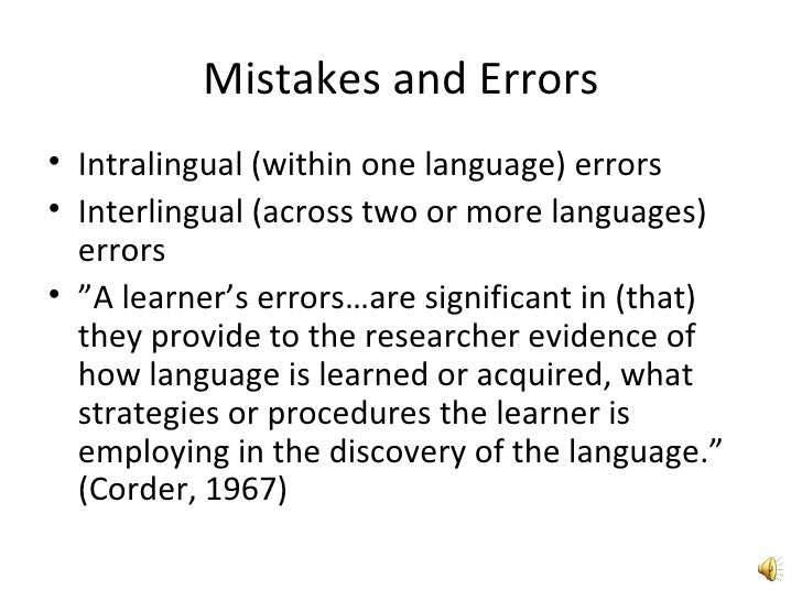 error and mistake Define error: an act or condition of ignorant or imprudent deviation from a code of behavior — error in a sentence.