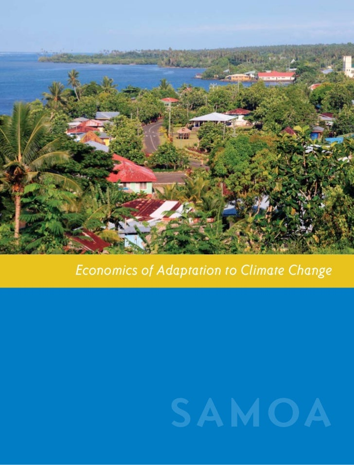 S A M OA CO U N T RY ST U DY                  i            Economics of Adaptation to Climate Change                      ...