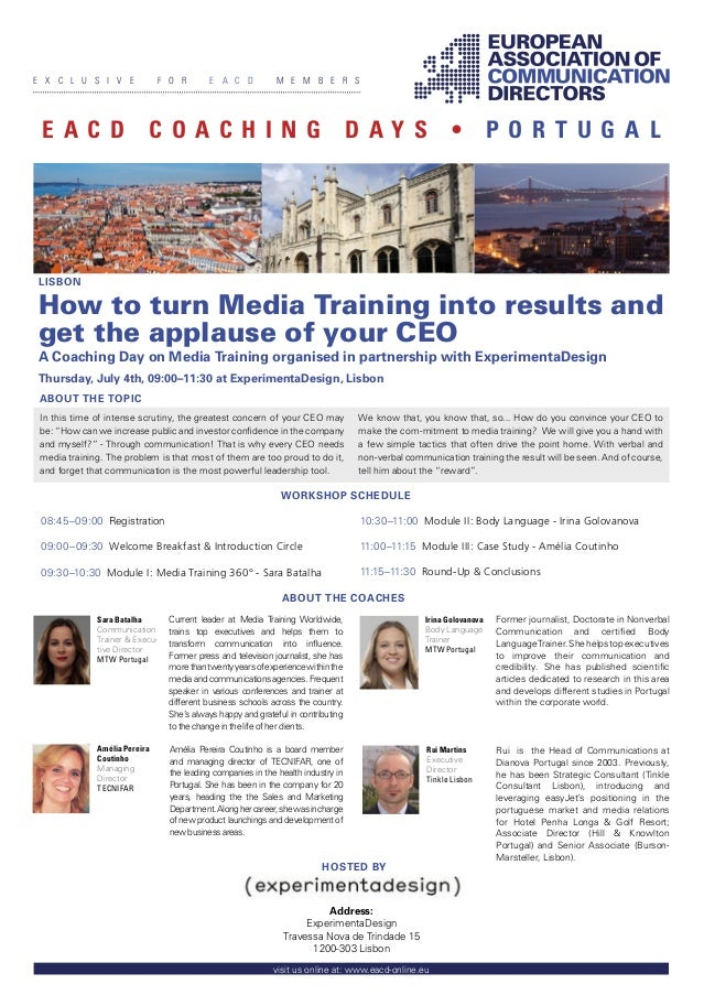 Current leader at Media Training Worldwide,trains top executives and helps them totransform communication into influence.Fo...