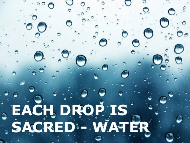 EACH DROP IS SACRED - WATER  Page 1