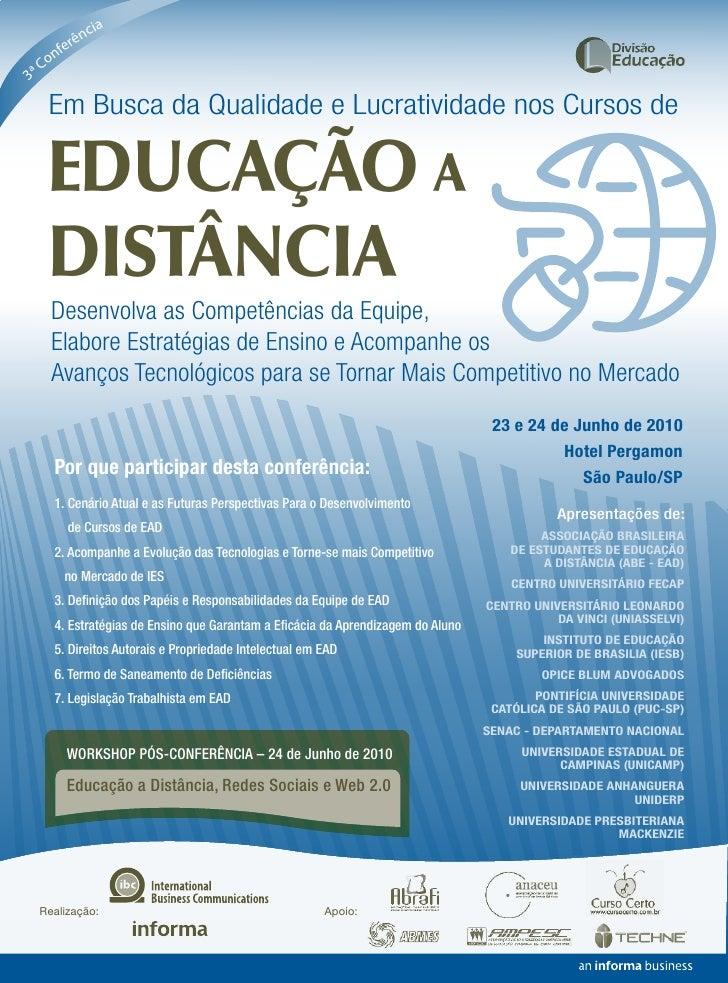 cia            ên         fer       on 3   ªC        Em Busca da Qualidade e Lucratividade nos Cursos de        EDUCAÇÃO A...