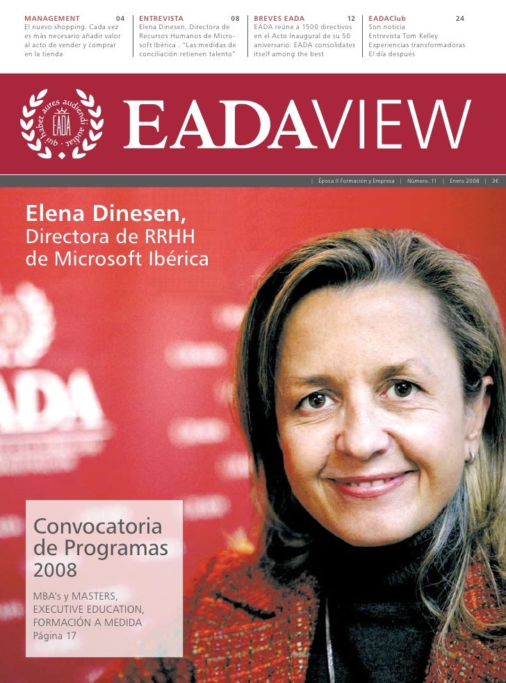 MANAGEMENT                 04   ENTREVISTA                   08   BREVES EADA                 12    EADAClub              ...