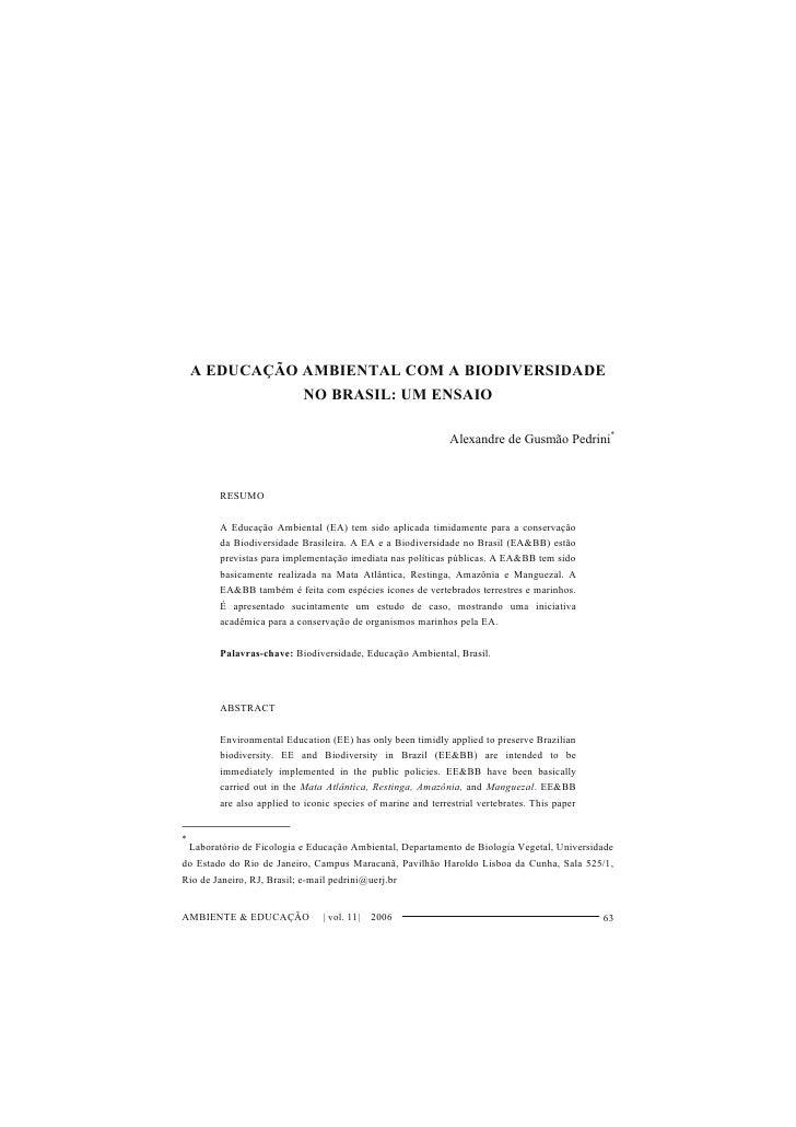 Ea e biodiversidade  pedrini ambiente e educação 2006