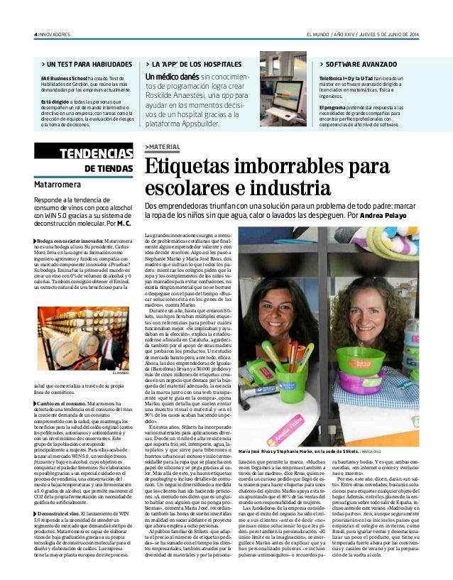 EL MUNDO / AÑO XXIV / JUEVES 5 DE JUNIO DE 20144 INNOVADORES > UN TEST PARA HABILIDADES EAE Business School ha creado Test...
