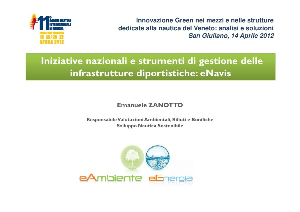 Iniziative nazionali e strumenti di gestione delle infrastrutture diportistiche: eNavis