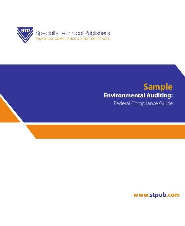 Sample Environmental Auditing: Federal Compliance Guide www.stpub.com