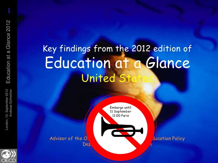 Key findings from the 2012 edition of  Education at a Glance - United States