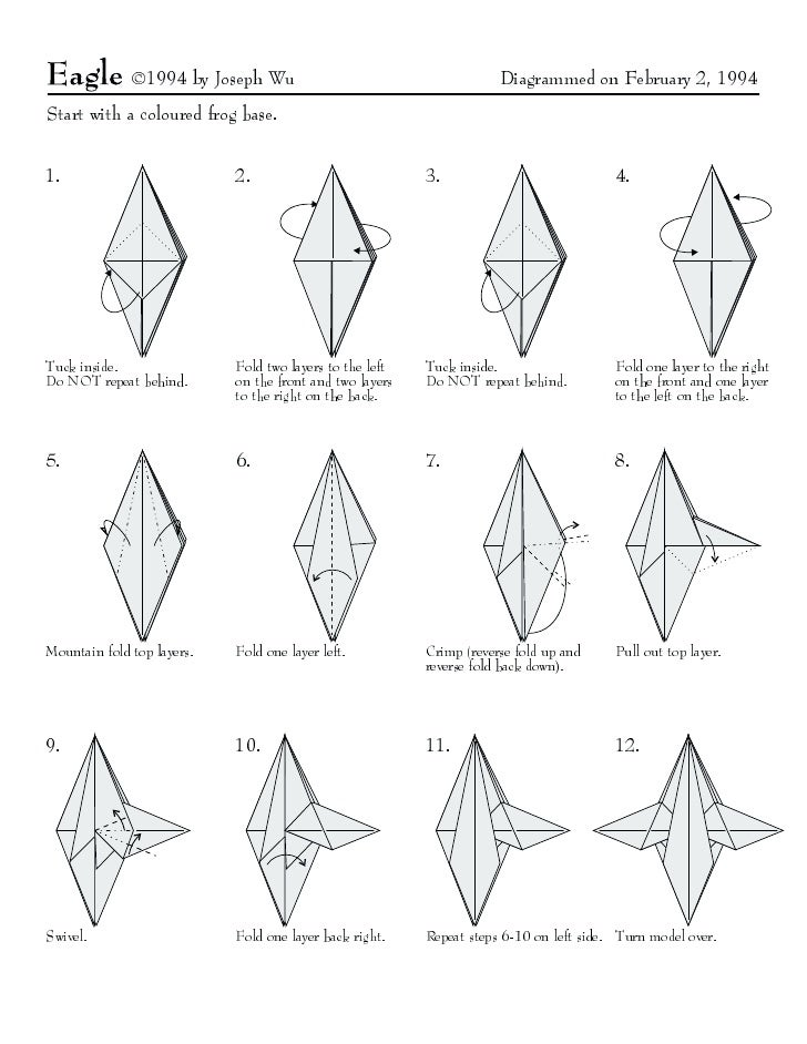 ©1994 by Joseph Wu                                        Diagrammed on February 2, 1994   Start with a coloured frog base...