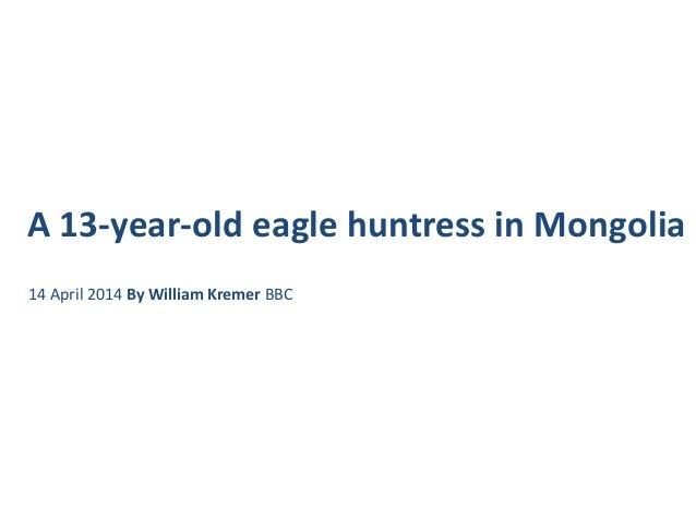 Eagle huntress in mongolia