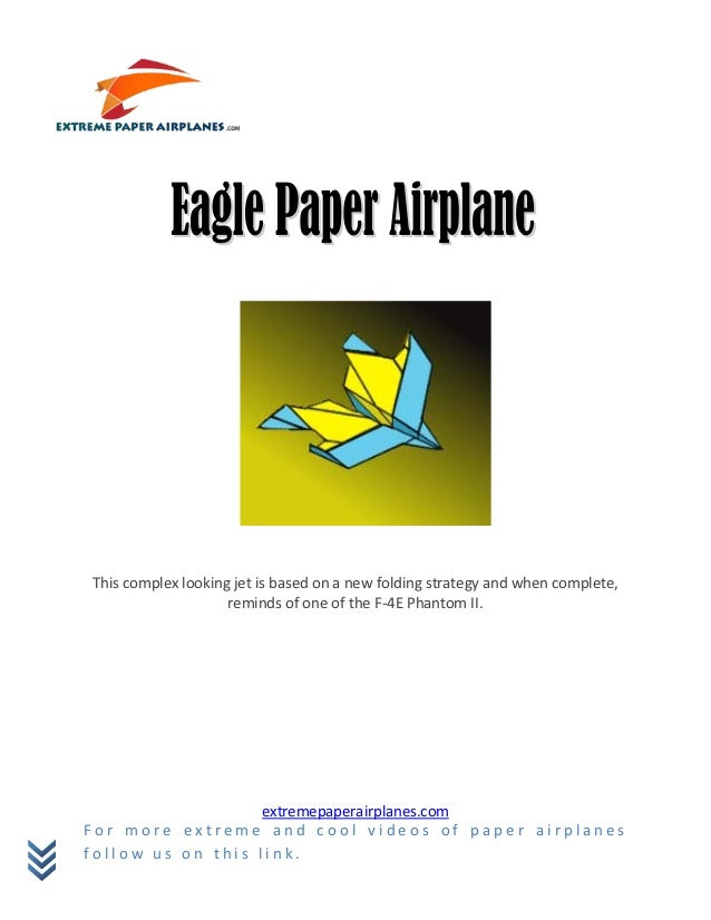 Eagle Paper Airplane