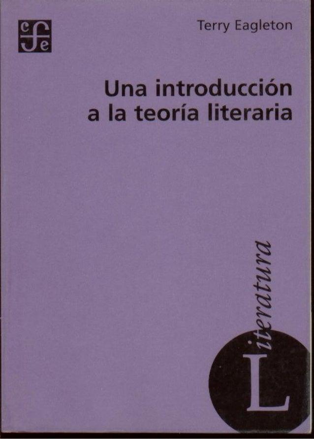 SECCIÓN DE OBRAS DE LENGUA Y ESTUDIOS LITERARIOSUNA INTRODUCCIÓN A LA TEORÍA LITERARIATraducción deJosé Esteban CalderónTE...