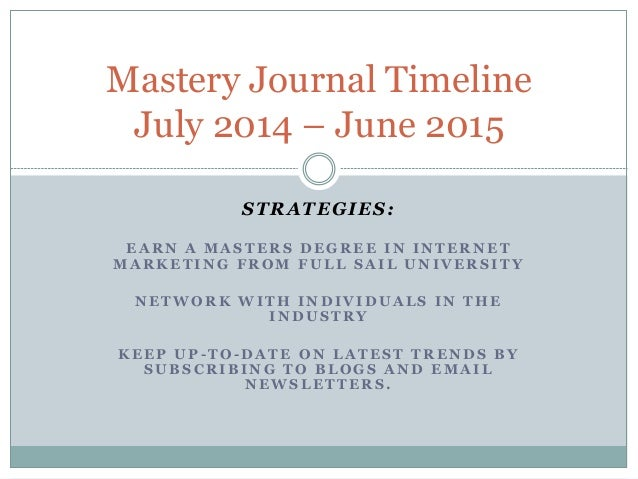 Mastery journal timeline for amy