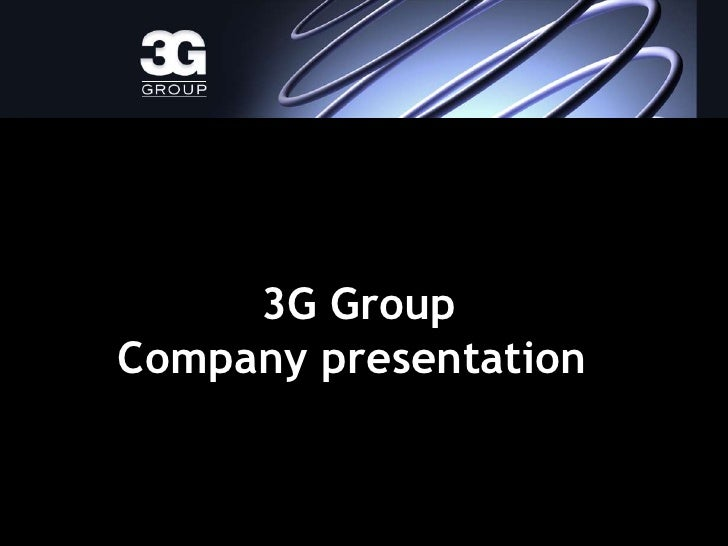 3G corporate presentation