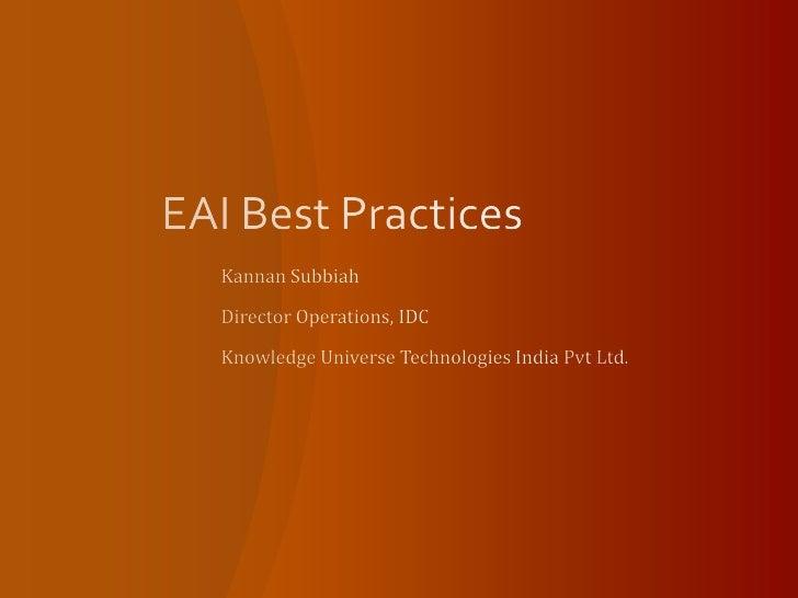 EAI Best Practices