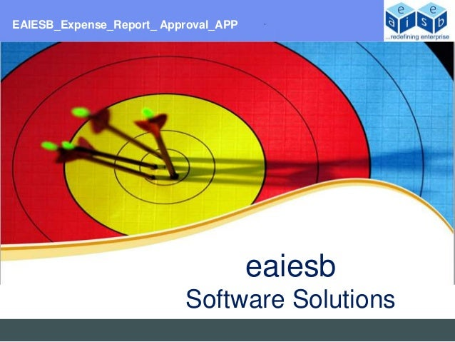 EAIESB_Expense_Report_ Approval_APP                                      eaiesb                          Software Solutions