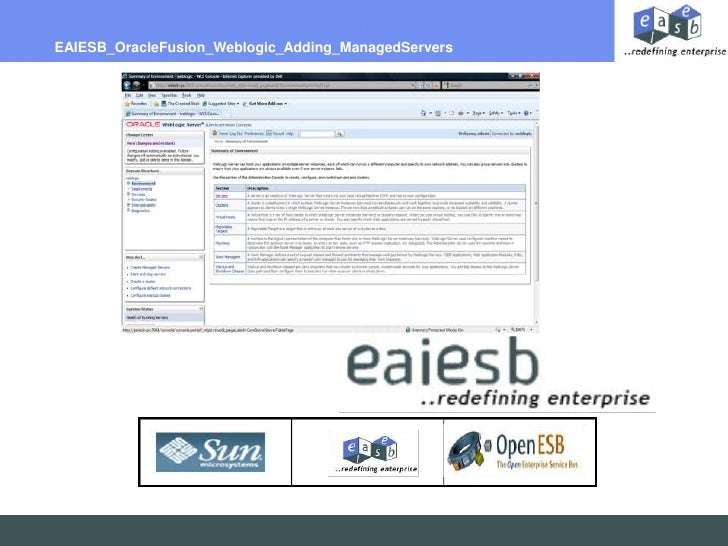 EAIESB_OracleFusion_Weblogic_Adding_ManagedServers<br />
