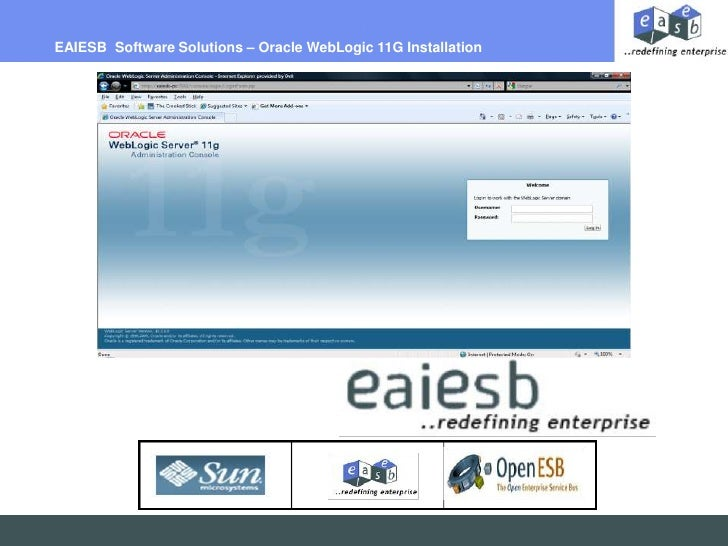 EAIESB  Software Solutions – Oracle WebLogic 11G Installation<br />