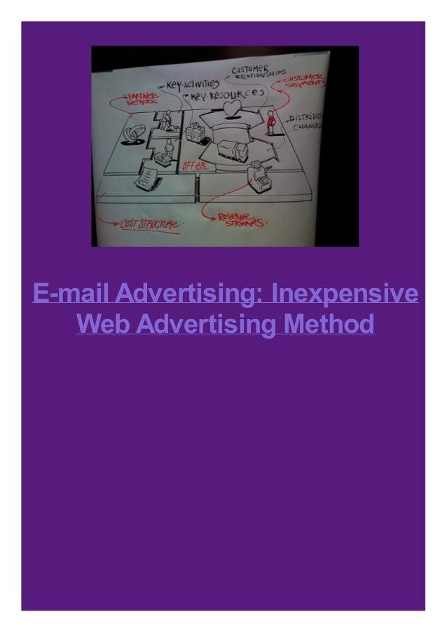 E-mail Advertising: Inexpensive Web Advertising Method