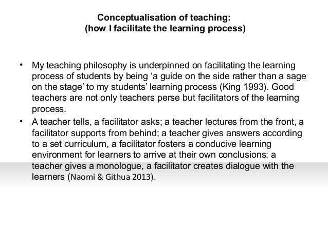 Philosophy of education paper examples