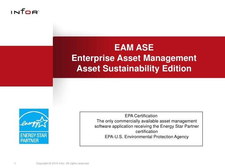 EAM ASE                                 Enterprise Asset Management                                  Asset Sustainability ...