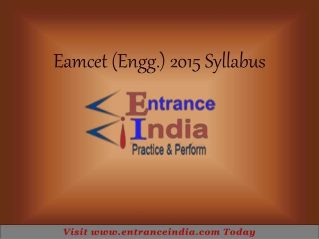 Eamcet engineering syllabus by entranceindia