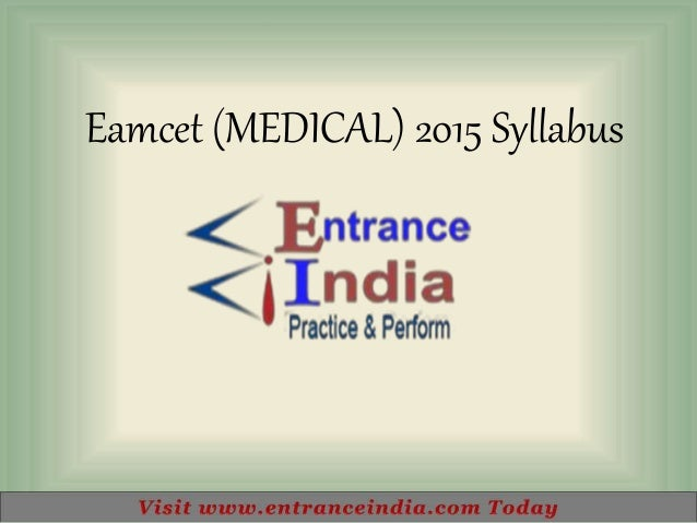 Eamcet (MEDICAL) 2015 Syllabus