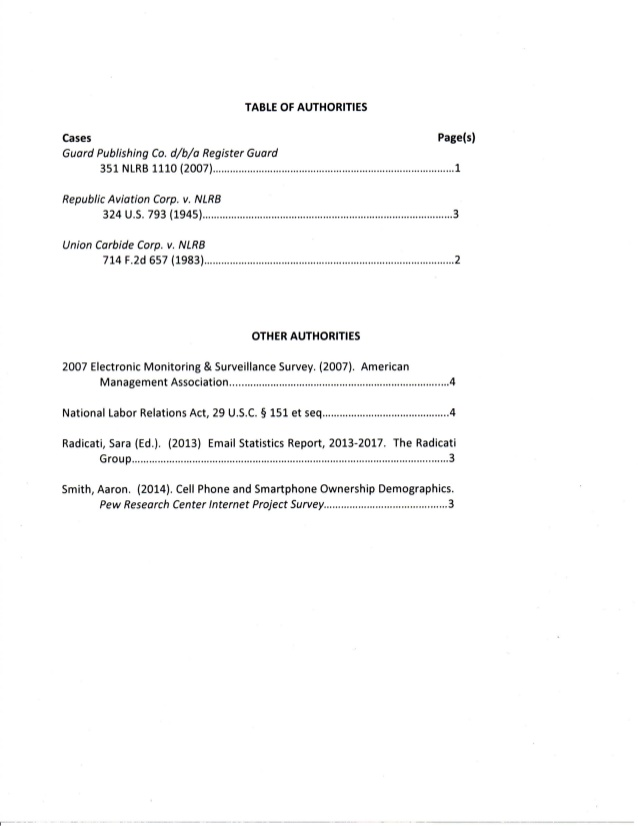 EANJ Letter Brief to NLRB RE: Purple Communications