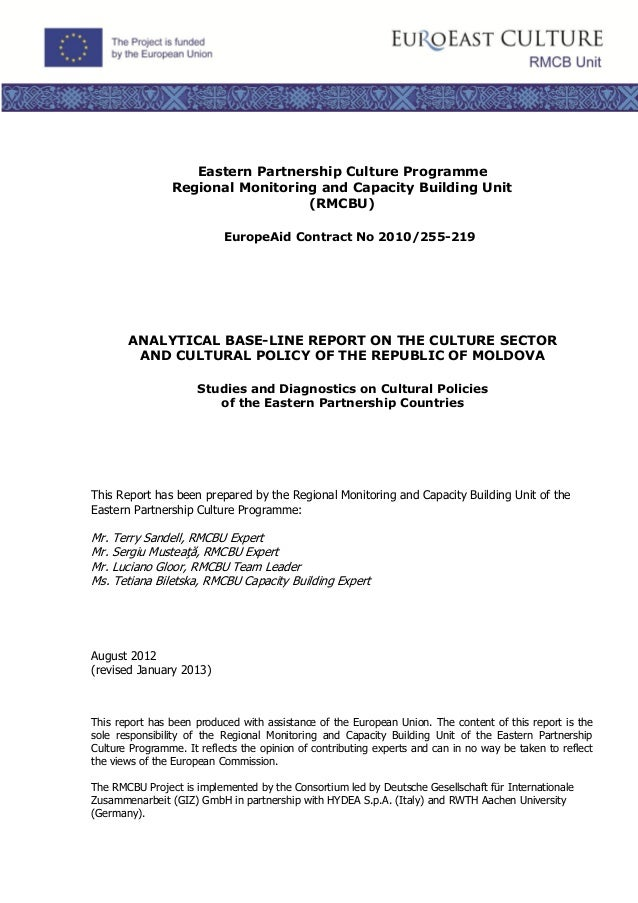 Eastern Partnership Culture Programme                Regional Monitoring and Capacity Building Unit                       ...