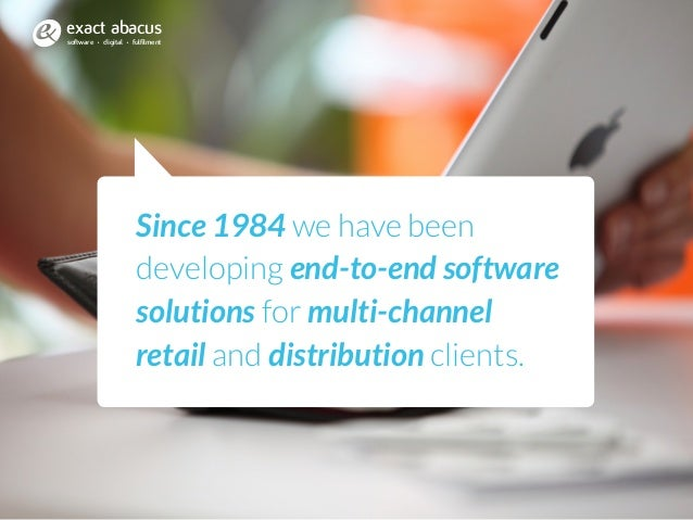 Since 1984 we have been developing end-to-end software solutions for multi-channel retail and distribution clients. softwa...