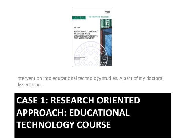 instructional technology dissertation Doctoral dissertations authored by wayne state university graduate students in  the department of instructional technology.
