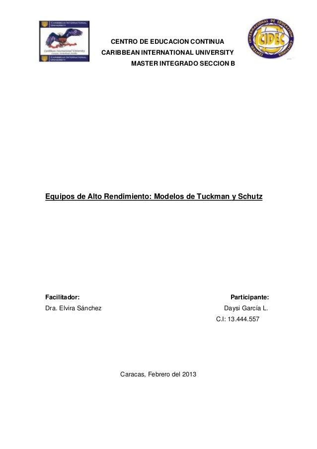 CENTRO DE EDUCACION CONTINUA                  CARIBBEAN INTERNATIONAL UNIVERSITY                           MASTER INTEGRAD...