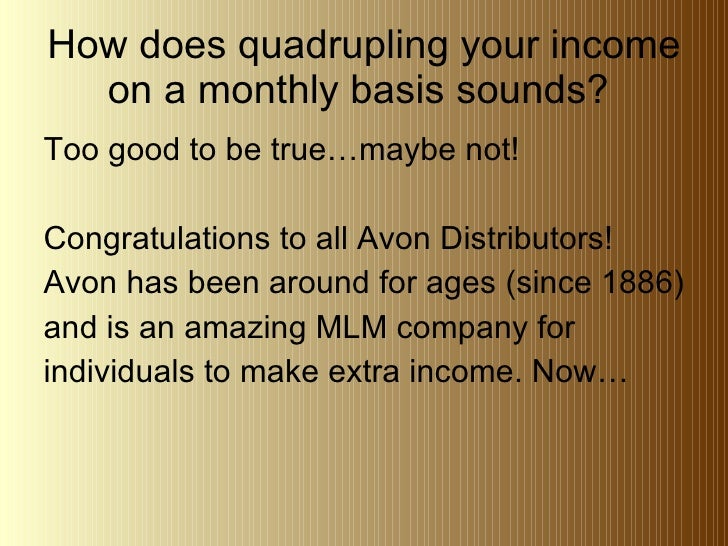 Avon Reps...Let Me Show You How To Quadruple Your Income
