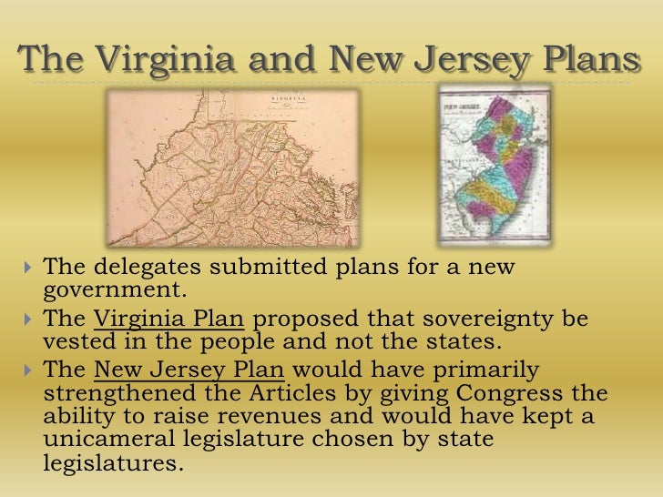 Things i could write about in my essay on the Virginia Plan?