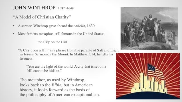 analysis of john winthrop s sermon a model of christian charity 1630 Find out what the city on a hill image really means in this interactive close reading lesson of winthrop's famous sermon a model of christian charity.