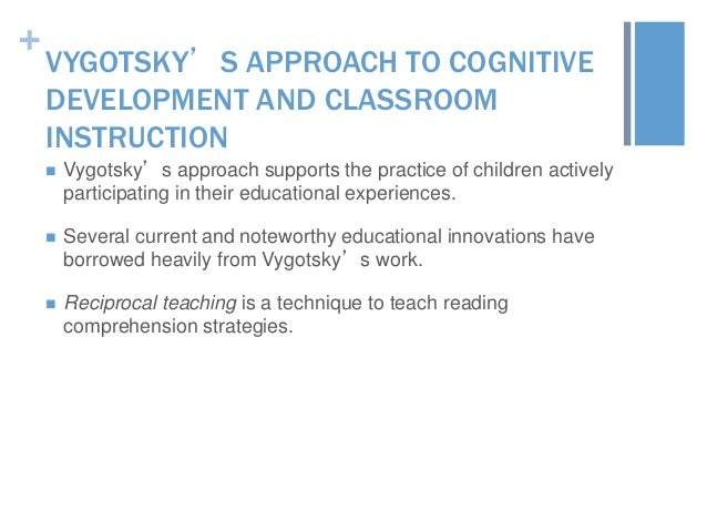 the application of vygotskys approach to child development to education today essay Current theories related to early childhood education and tainable development education for preschool today is a part of early childhood education.