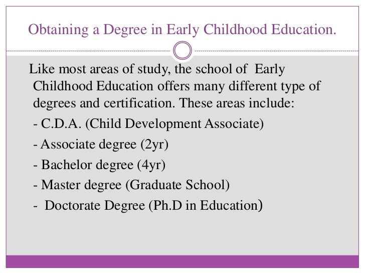 Early childhood education topics research paper